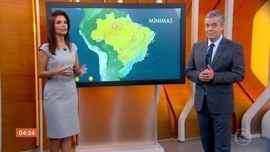 Meteorologia prevê chuva em todo estado de MG nesta quarta-feira - Frente fria provoca chuva no sul da Bahia.