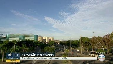 Confira a previsão do tempo para o Rio de Janeiro nesta quarta-feira (4) - Previsão de tempo bom para a maior parte do estado. Pode chover no sul do estado e na Região Serrana.