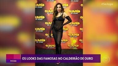 Gshow no 'Se Joga' 04/12: looks das famosas no 'Caldeirão de Ouro' - Paolla Oliveira quebra tudo nos bastidores com Ludmilla e Brunna Gonçalves
