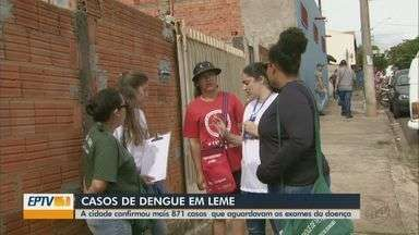 Leme confirma mais 871 casos de dengue e soma 2.630 no ano - Casos aconteceram ao longo do ano e aguardavam resultados de exames. Prefeitura realiza ações de combate à doença.