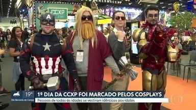Primeiro dia da Comic Con Experience é marcado por cosplays - Pessoas de todas as idades se vestiram idênticas aos ídolos.