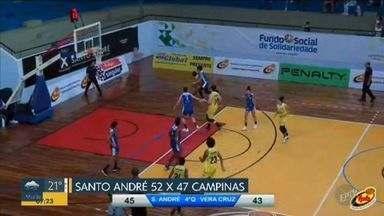Campinas perde o primeiro jogo do play-off semifinal no estadual de basquete feminino - Equipe fez um bom começo de jogo, mas não segurou vitória sobre o Santo André.