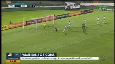 Palmeiras vence Goiás e com o resultado, Inter está na pré-libertadores 2020 - Veja os gols.