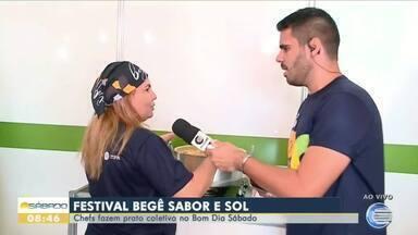 Chef fala sobre preparo de prato coletivo durante festival em Barra Grande - Chef fala sobre preparo de prato coletivo durante festival em Barra Grande