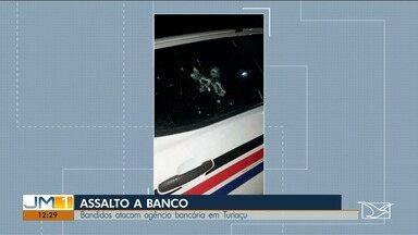 Agência bancária é assaltada em Turiaçu - Criminosos explodiram o banco e também atacaram uma viatura da PM.