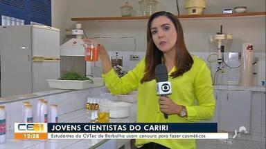 Estudantes usam cenoura para fazer comésticos - Saiba mais em g1.com.br/ce