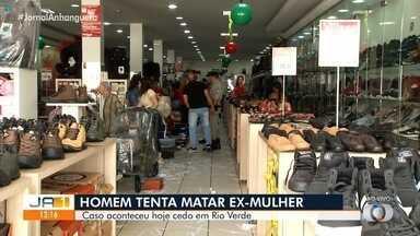 Homem é preso após tentar matar a ex-mulher em Rio Verde - O caso aconteceu na manhã deste sábado (7).