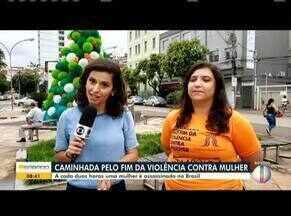 Caminhada pelo fim da violência contra a mulher será realizada em Caratinga - Programação começa às nove da manhã neste domingo(8) na praça Getúlio Vargas.