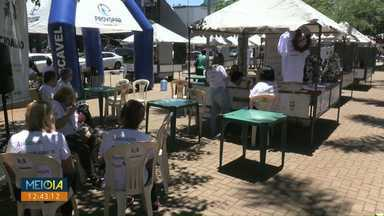 Feirão da cidadania é realizado no Centro de Cascavel - Entidades mostram como a comunidade pode ajudar ou trabalhar como voluntário.