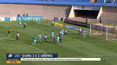 Diego Guichard fala da partida da garotada do Grêmio contra o Goiás - Garotos fizeram boa atuação, mas perderam para os goianos.