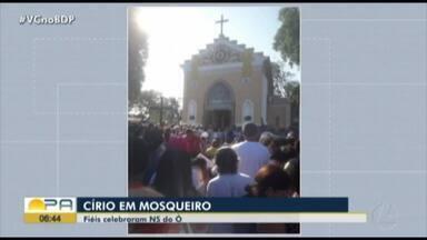 Fiéis celebram o Círio de Nossa Senhora do Ó, em Mosqueiro - Fiéis celebram o Círio de Nossa Senhora do Ó, em Mosqueiro