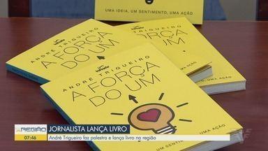 Jornalista lança livro 'A Força do Um', em Santos e Bertioga - André Trigueiro, da Globo, passou o final de semana na região.