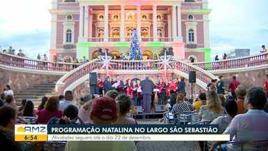 Começa programação natalina no Largo São Sebastião, em Manaus - Atividades seguem até o dia 22 de dezembro.
