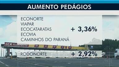 Tarifas de pedágio devem subir a partir da 0h desta terça-feira (10) no Paraná - Na praça de Witmarsum, valor aumenta de R$ 8,70 para R$ 8,95.