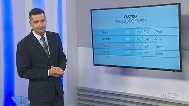 Veja como fica a previsão do tempo para Ponta Grossa e região nesta terça-feira (10) - Próximos dias devem ser frios e chuvosos nos Campos Gerais.