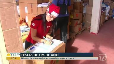 Número de encomendas aumenta com a chegada das festas de fim de ano - Em Santarém não é diferente; veja na reportagem.