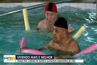 Idosos de Uberaba têm cuidado mais da saúde aumentando a longevidade - A expectativa de vida do brasileiro aumentou para quase 80 anos.