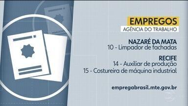 Confira vagas disponíveis na Agência do Trabalho - Há oportunidades em Nazaré da Mata e no Recife.