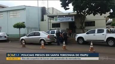 Dez policiais militares são presos em operação do Gaeco - Todos trabalhavam em Santa Terezinha de Itaipu e são acusados de desviar mercadorias trazidas do Paraguai.