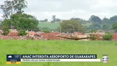 ANAC interdita o Aeroporto de Guararapes, no interior de SP - Em novembro, uma mulher chegou a ser atingida na cabeça por uma aeronave; pedestres cruzavam livremente a pista
