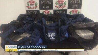 Caminhoneiro é preso com carga de 75 kg de cocaína em Santos - Homem foi detido durante uma operação organizada por policiais da Delegacia de Investigações Sobre Entorpecentes (Dise).