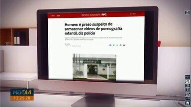Homem é preso suspeito de armazenar vídeos de pornografia infantil - A prisão foi em Francisco Belrão.