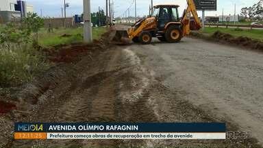 Prefeitura começa obras de recuperação em trecho da Av. Olímpio Rafagnin - Há anos os moradores esperam por uma reforma completa da avenida.
