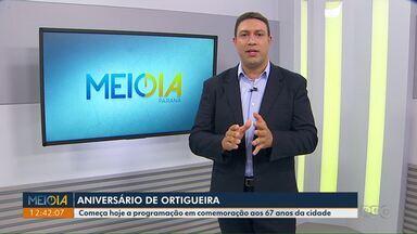 Começa nesta quarta-feira (11) a programação de aniversário de Ortigueira - A cidade completa 67 anos no dia 14 de dezembro.