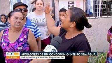 Moradores de condomínio inteiro fica sem água - Saiba mais no g1.com.br/ce