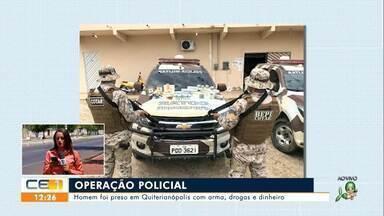 Homem é preso em Quiterianópolis com arma, drogas e dinheiro - Saiba mais no g1.com.br/ce