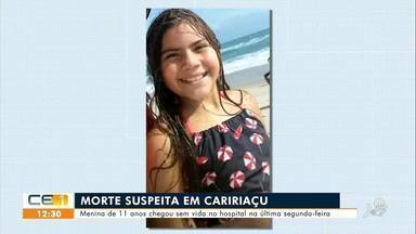 Menina de 11 anos tem morte suspeita em Caririaçu - Saiba mais no g1.com.br/ce