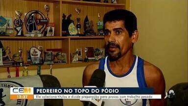 Pedreiro cratense que venceu maratona divide trabalho com preparação para provas - Saiba mais no g1.com.br/ce