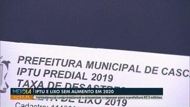 IPTU e taxa de lixo não devem ter aumento em 2019, segundo a prefeitura - Reajuste no valor da UFM (Unidade Fiscal do Município) vai impactar no valor de 2020 dos impostos em Cascavel.