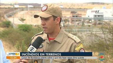 Bombeiros alertam para a prevenção de incêndios nesse período de calor na Paraíba - Com os terrenos mais secos, aumenta o risco de incêndios.