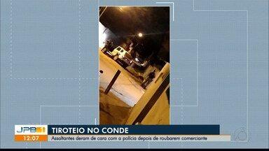Bandidos invadem pousada no litoral sul da Paraíba e são surpreendidos pela polícia - A tentativa de assalto foi na cidade do Conde.