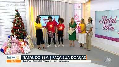 Natal do Bem: Baianos visitam estúdio do BMD e participam da campanha da TV Bahia - Ação ajuda a promover um fim de ano mais feliz para milhares de famílias carentes, em todo o estado.