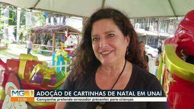 Adoção de cartinhas de natal é realizada em Unaí - Campanha pretende arrecadar presentes para crianças.