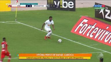 Vitória contrata mais um reforço: lateral-esquerdo Rafael Carioca agora compõe o time - Este ano o jogador disputou a série B pelo Bragantino.