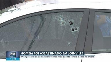 Empresário é morto a tiros em Joinville - Empresário é morto a tiros em Joinville
