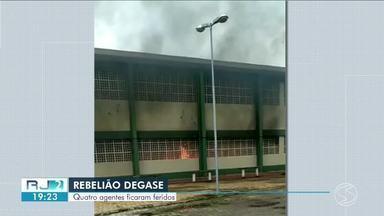 Agentes do Degase de Volta Redonda ficam feridos durante rebelião - Motivação teria sido a troca de um grupo de adolescentes de alojamentos.
