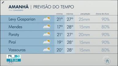 Quinta-feira será de céu nublado no Sul do Rio de Janeiro - Sol deve aparecer em algumas cidades, mas a chuva predomina na maior parte da região.