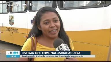 Terminal Maracacuera, que integra do BRT, é alvo de críticas e motivo de protestos - Terminal Maracacuera, que integra do BRT, é alvo de críticas e motivo de protestos