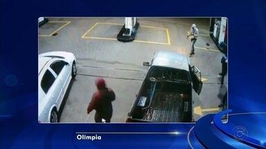 Polícia procura ladrões que tentaram roubar cofre de posto de combustíveis em Olímpia - A polícia procura os ladrões que tentaram roubar o cofre de um posto de combustível na madrugada desta quarta-feira (11), em Olímpia (SP).