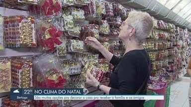 Lojas oferecem diversas opções para quem quer deixar a casa enfeitada para o Natal - Opções de presépio, luzes e outros artigos estão em alta nas lojas da região.
