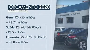 Projeto de lei em Cabo Frio prevê R$ 71 milhões a mais para orçamento em 2020 - Orçamento total é R$ 956 milhões. Lei aprovada pela Câmara dos Vereadores segue para análise do prefeito.