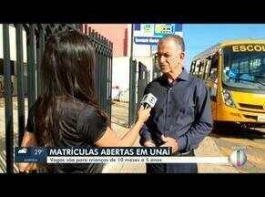 Estão abertas as matrículas para crianças em Unaí - Matrículas são para crianças de 10 meses a 5 anos.
