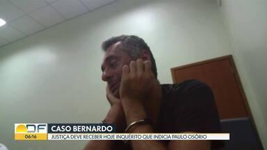 Justiça deve receber hoje (12) inquérito que indicia Paulo Osório por morte do filho - O pequeno Bernardo, de um ano e 11 meses, foi morto pelo pai em 29 de novembro, depois que ele pegou o menino na creche.