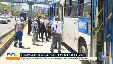 Operação da Polícia Civil age em combate aos assaltos a ônibus de Salvador - Ação acontece na região do Detran, na capital baiana.