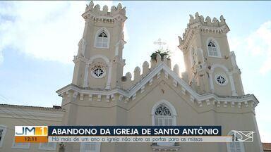 Igreja de Santo Antônio está fechada há mais de um ano por problemas infraestruturais - Prédio histórico onde também funciona o seminário Santo Antônio faz parte do Conjunto Arquitetônico tombado pela Unesco.