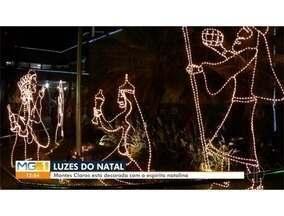 Decoração de Natal ilumina vários pontos de Montes Claros - Presépio foi colocado em frente à Santa Casa.